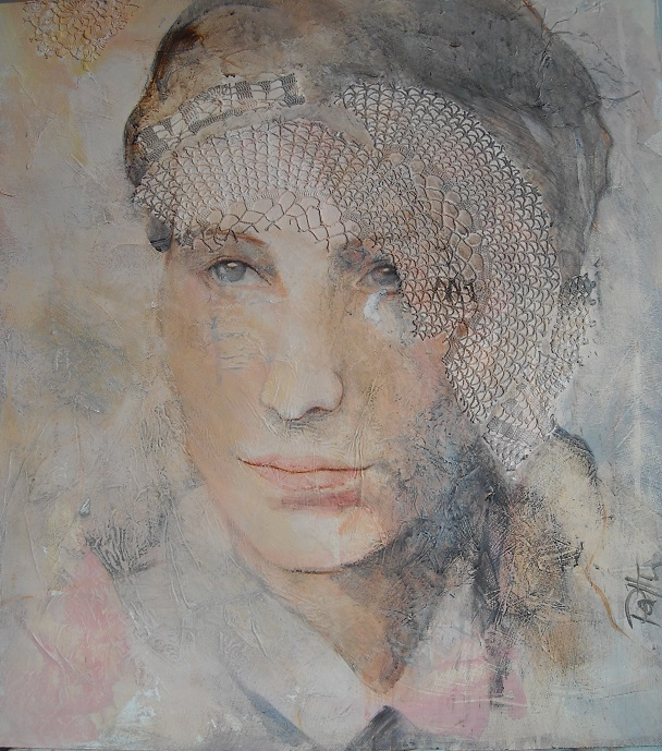 Lady in Lace 2017, 64x60 cm
